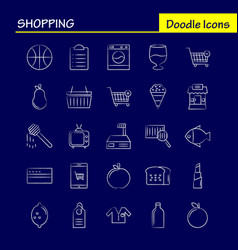 Shopping hand drawn icon for web print and mobile vector