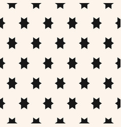 simple geometric seamless pattern with star vector image