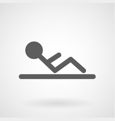 simple sit up icon vector image