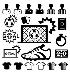 Soccer Icons set vector