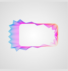 stylized guilloche element zigzag bright gradient vector image