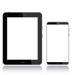 Tablet pc and smart phone vector