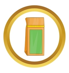 Tea packed in a paper bag icon vector