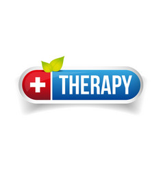 Therapy button logo vector