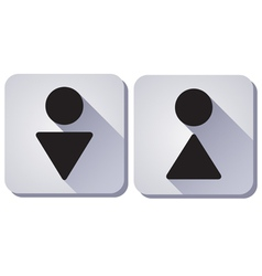 toilet sign WC vector image