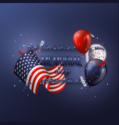 usa memorial day design vector image