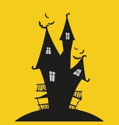 Vintage haunted house perfect for spooky halloween vector