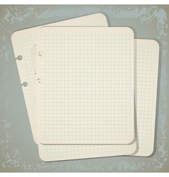 vintage notepad papers vector image