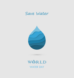 Water drop with waves icon logo design vector