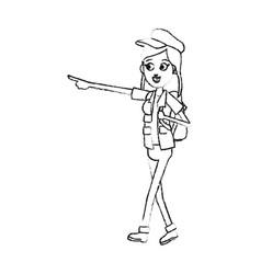 Young pretty woman cartoon icon image vector