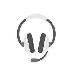 flat design of headphones vector image
