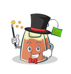 magician tea bag character cartoon vector image vector image