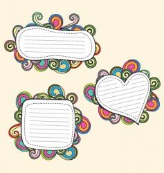retro doodle vector image vector image