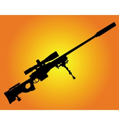 sniper rifle vector image vector image