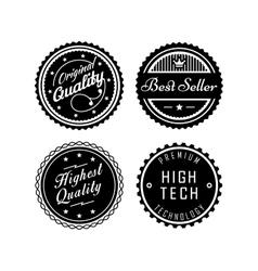 Vintage badges 2 vector image