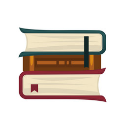 books placed in roll vector image vector image