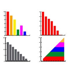 different diagrams vector image vector image