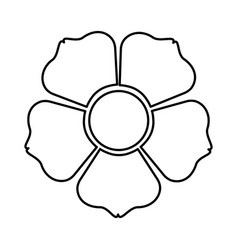 figure flower with squre petals icon vector image