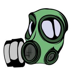 gas mask icon cartoon vector image vector image