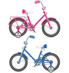 kids bicycles vector image