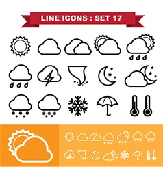 Line icons set 17 vector image
