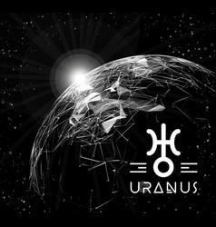 planet uranus in the form of polygonal mesh vector image