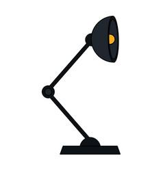 color silhouette cartoon modern style desk lamp vector image