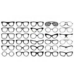 Eye glasses silhouettes vector