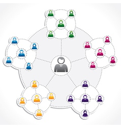 people connection newtwork vector image vector image