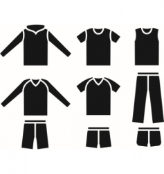 set of the sports wear vector image