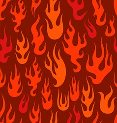 Different abstract flame silhouettes seamless vector image