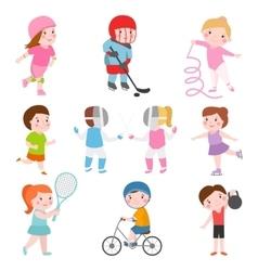 Kids sport games vector image vector image
