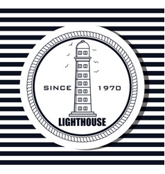 lighthouse sea life icon design vector image vector image