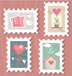 Love stamps vector
