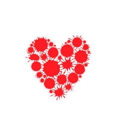 Red paint splash heart vector