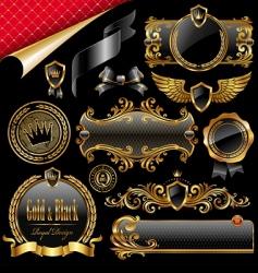 royal design elements vector image vector image