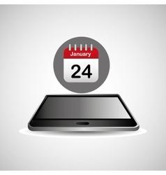 smartphone black lying aganda calendar icon design vector image