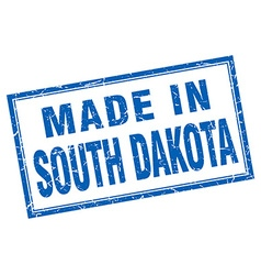 South Dakota blue square grunge made in stamp vector image vector image