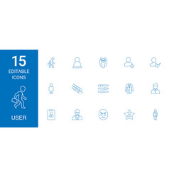 15 user icons vector