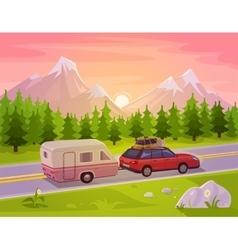 A mountain landscape vector