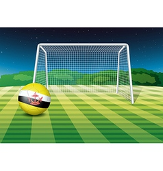 A soccer ball with the flag of Brunei vector image