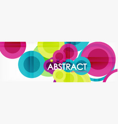Abstract colorful geometric composition vector