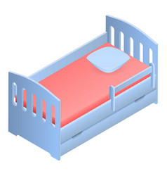 baby bed icon isometric style vector image