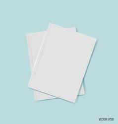 Blank catalog magazinesbook mock up on blue vector