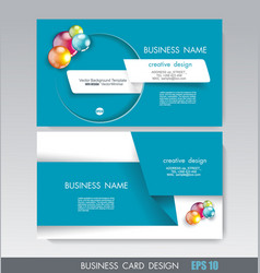 business card design with paper tape and bright vector image
