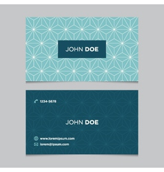 Business card pattern blue 12 vector