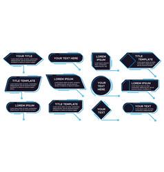 callouts titles banner futuristic callouts vector image