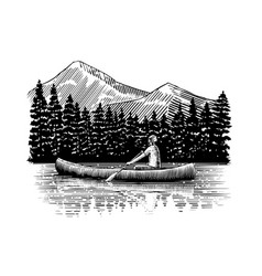 canoeing vector image