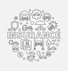 car insurance round vector image