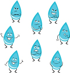Cartoon water drops vector image